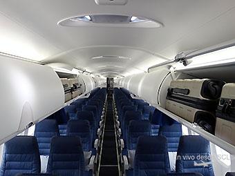 Bombardier Dash 8 Q400 cabin view (RD)