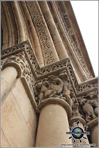 Puerta de la Anunciación, Catedral de Lleida, Cataluña. España.