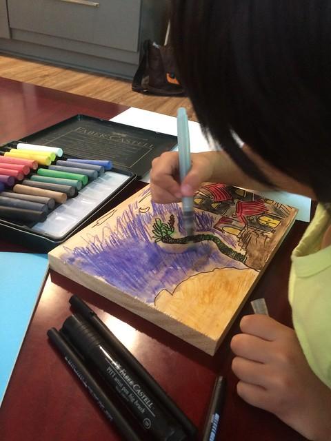 Wood board color drawings