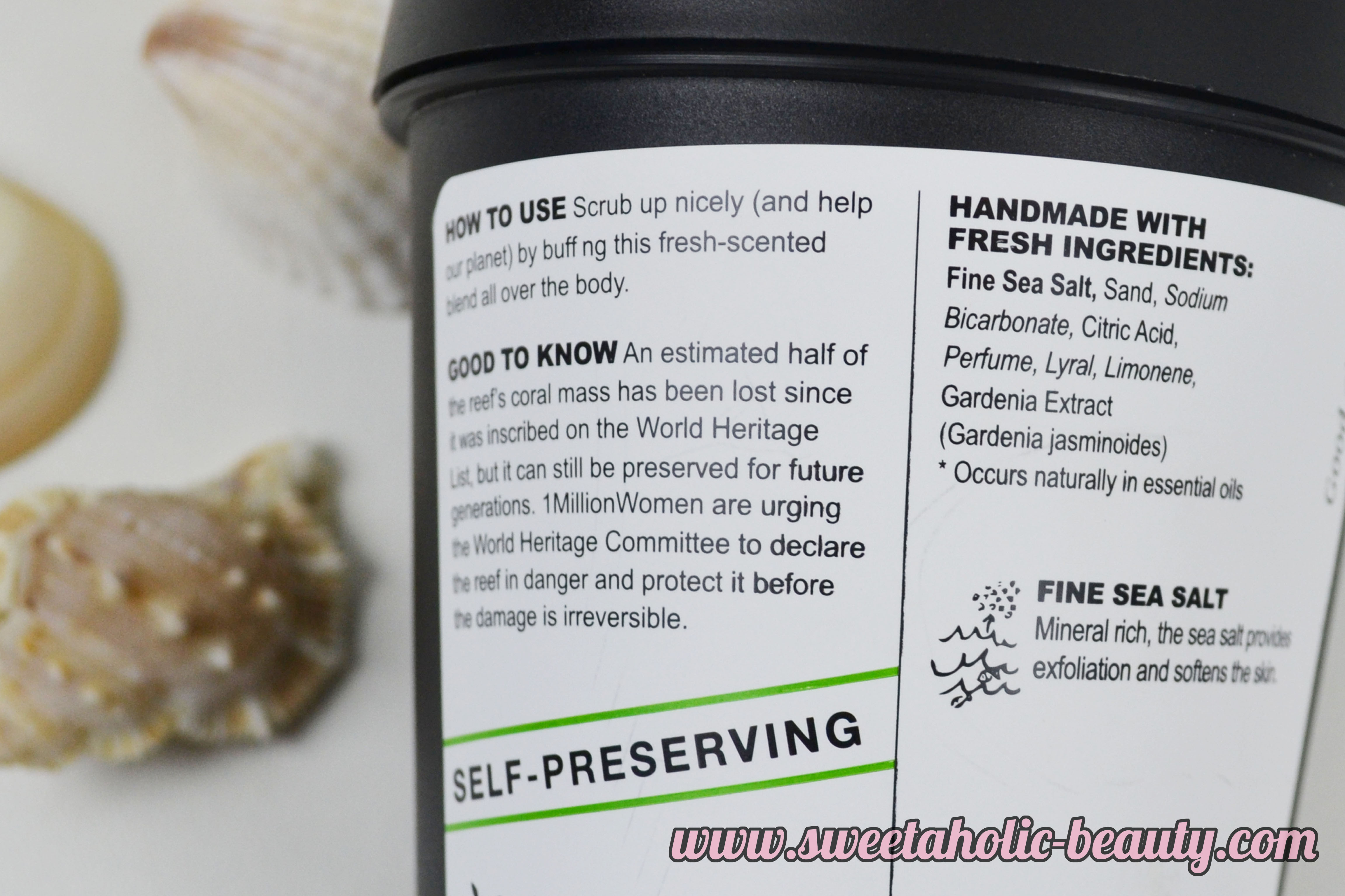Lush Life's A Beach Body Scrub Powder Review - Sweetaholic Beauty