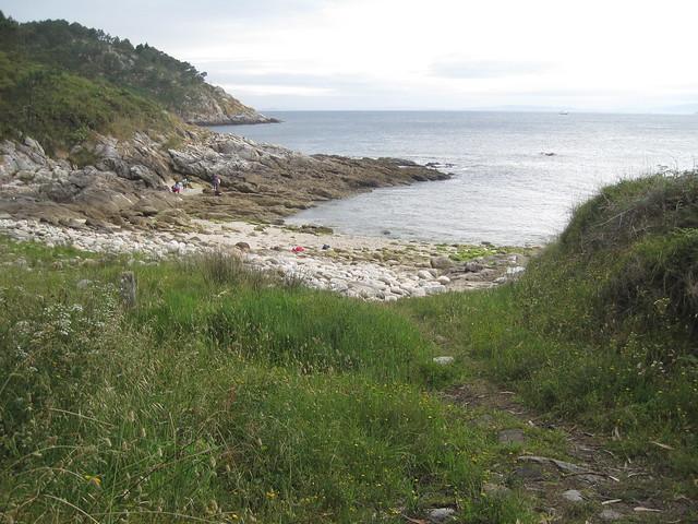 Pequeña Cala en las islas Cíes