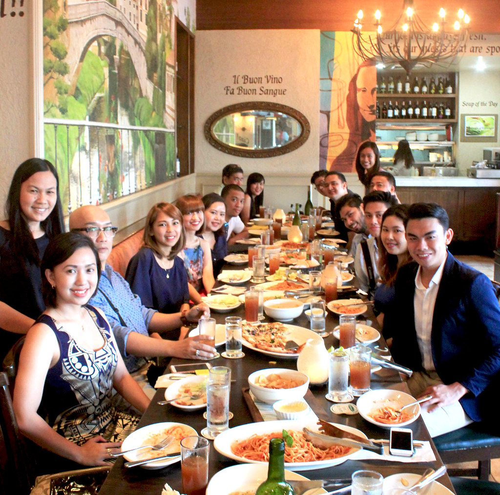 Mango representatives with media guests and bloggers at the round-table conference at Italianni's Abreeza Mall