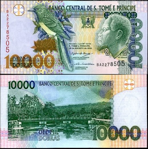 10 000 Dobras Svätý Tomáš a Princov ostrov 2004, Pick 66b