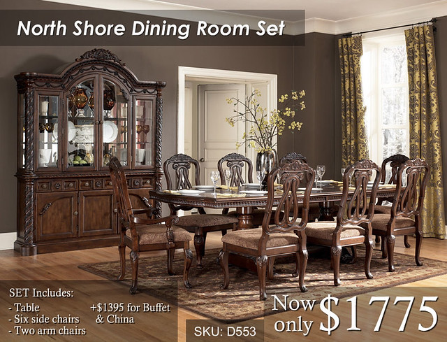 North Shore Dining Set 8 chairs