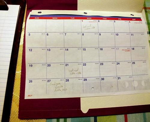 July 2015 Diary