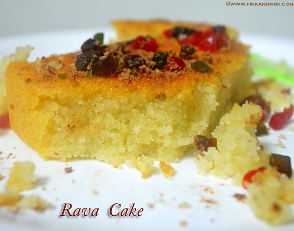 Eggless Vanilla Cake Recipes In Pressure Cooker: Eggless Vanilla Rava Cake Recipe