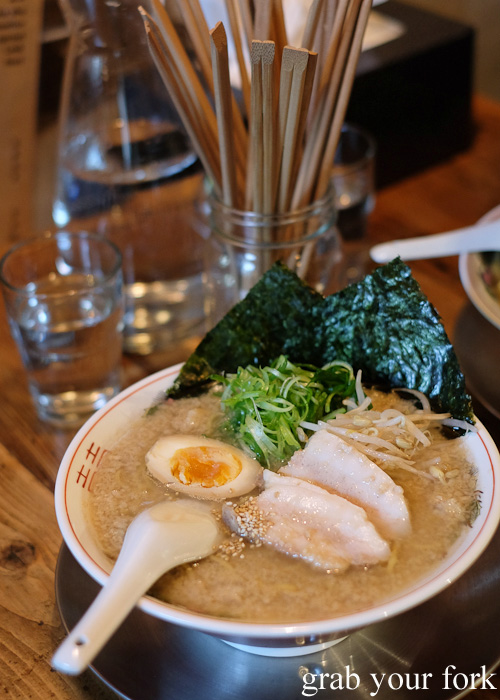Fat soy ramen at Chaco Bar, Darlinghurst