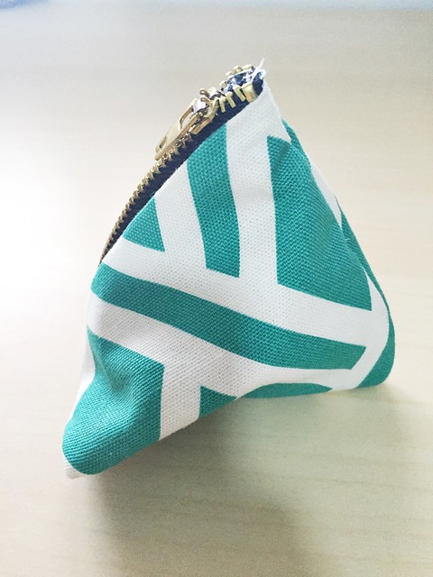 Triangle Zipper Pouch