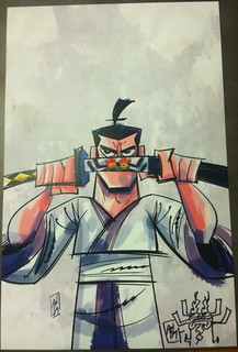 Samurai Jack print (with Aku sketch) by Andy Suriano