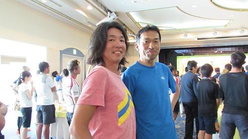 Tagged! ツール・ド・宮古島「閉会式」にて。 184kmレース第2位に輝いた「我が師」岩瀬選手と記念撮影。