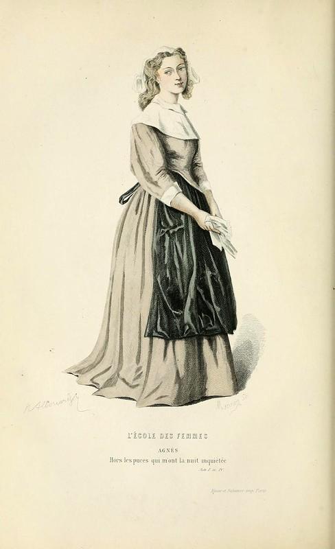 004-La escuela de mujeres -Oeuvres completes ornee de portraits en pied colories…1871- Moliere