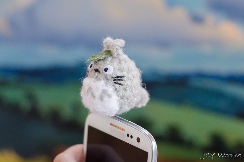 Cute My Neighbor Totoro Amigurumi Crochet Yarn Smart Phone Earphone Plug 05