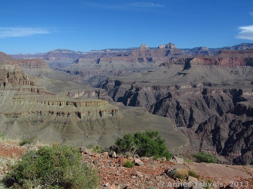 Views west from the western arm of Horseshoe Mesa, Grand Canyon National Park, Arizona