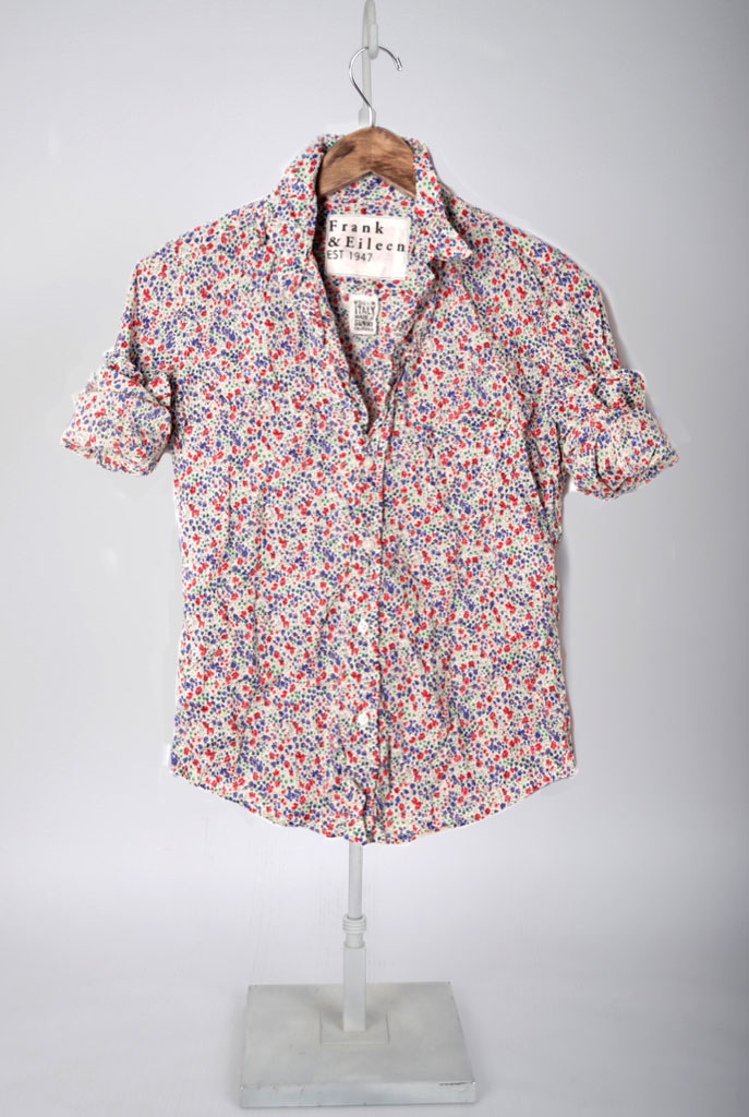The Barry Shirt - Blue Red Floral