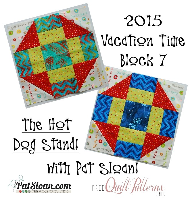 2015 7 July Vacation Time Block button