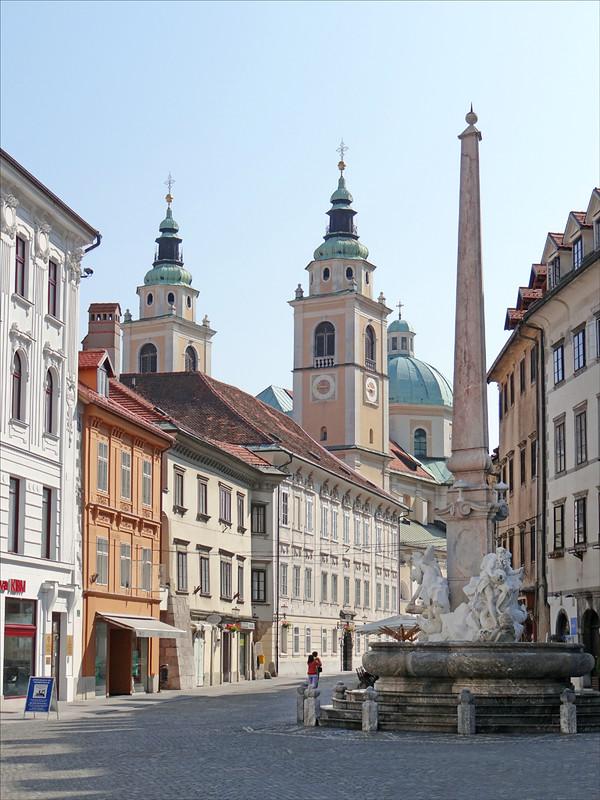 La fontaine de la place de l'Hôtel de Ville (Ljubljana)