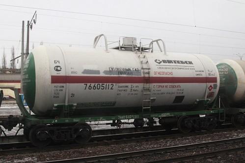 Russian Railways tank wagon 76605112 at Липецк (Lipetsk)