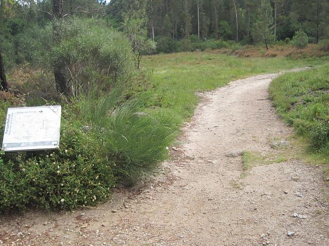 Desvío en el Sendeiro da Corga da Fecha en el Parque Baixa Limia-Serra do Xurés