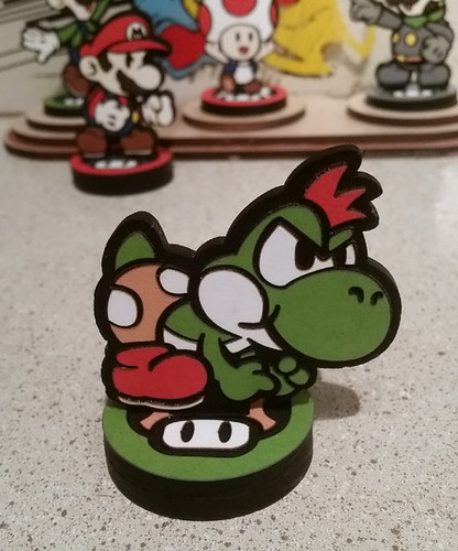 Custom Paper Mario Amiibo by SuperAmiigos - Kid Yoshi