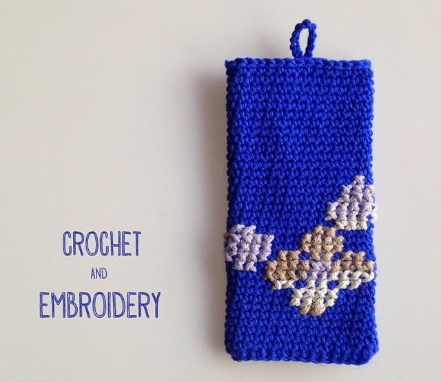 crochet y bordado para fundas movil