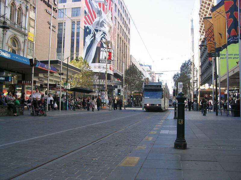 Bourke Street Mall, June 2005