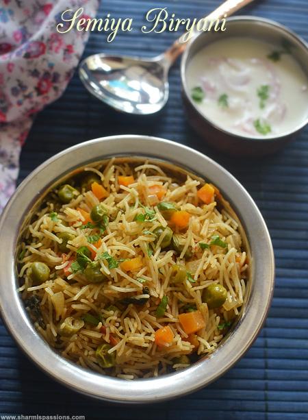Semiya Biryani Recipe