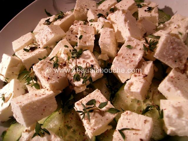 Salade de Concombre au Feta Vinaigrette © Ana Luthi Tous droits réservés 06