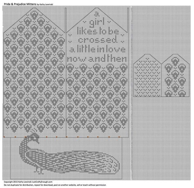 Iron Craft '15 Challenge #13 - Pride and Prejudice Mittens