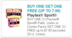 BOGO Free Playtex