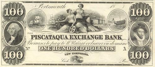 NH, Portsmouth-Piscataqua Exchange B-$100 remain q xocx