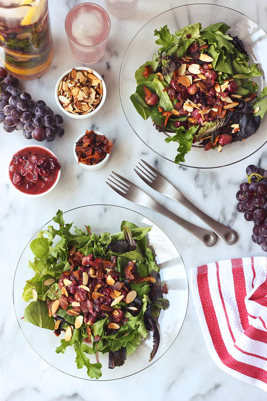 Bacon Roasted Grape Salad (gluten-free + dairy-free)