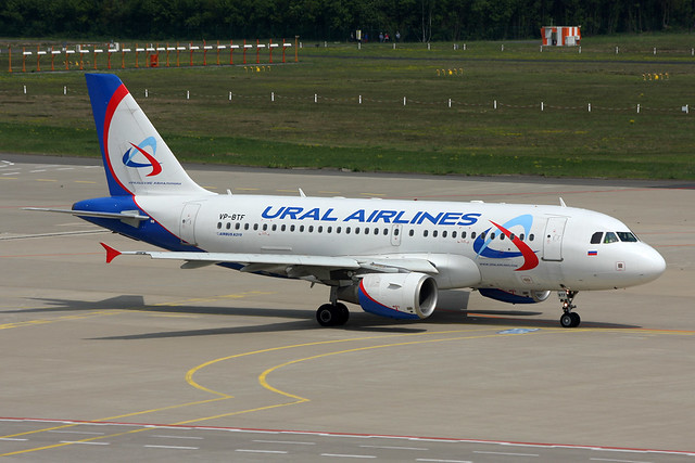 VP-BTF Ural Airlines A319-112 Cologne 04/05/2014