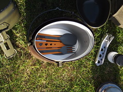 Jetboil colapsed cooking utenciles packed in m-44 trangia by Alan 13-7
