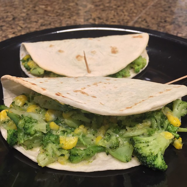 Broccoli Quesadillas