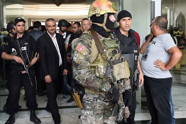 Security forces in Sousse