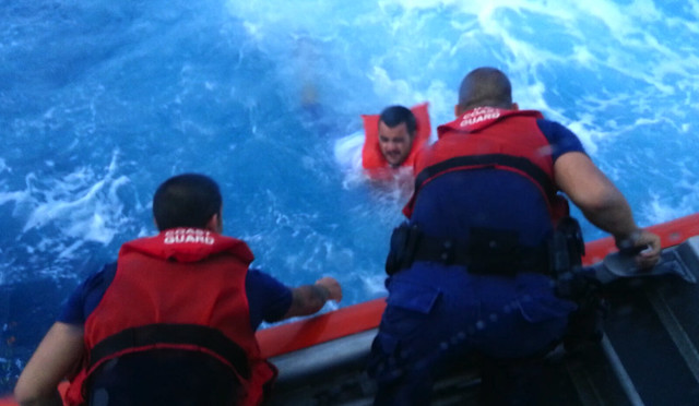 4 people rescued by Coast Guard