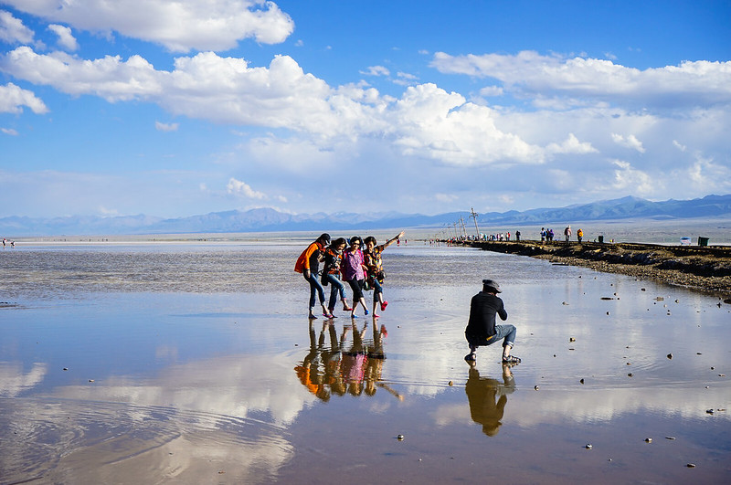 Chaka Salt Lake at Qinghai China