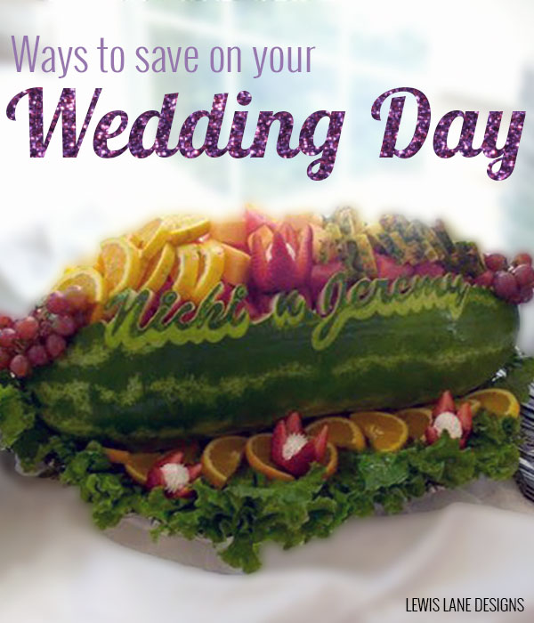 Ways to save on your wedding day by Lewis Lane