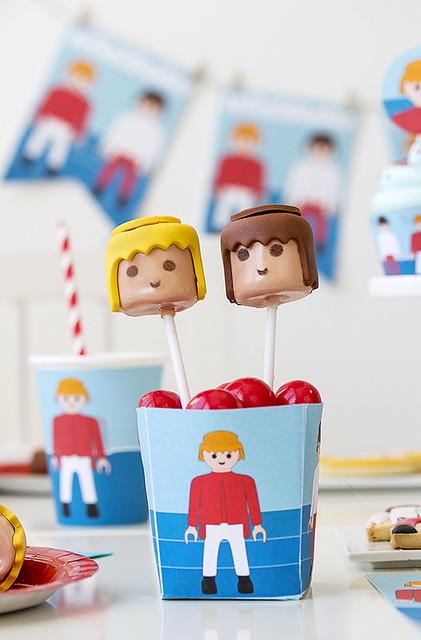Cake pops de Playmobil