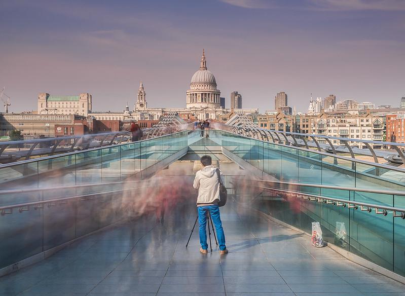 'Amongst The Crowd' - Millennium Bridge, London
