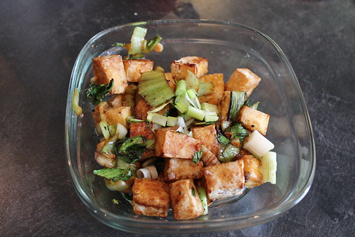 tofu with bok choy