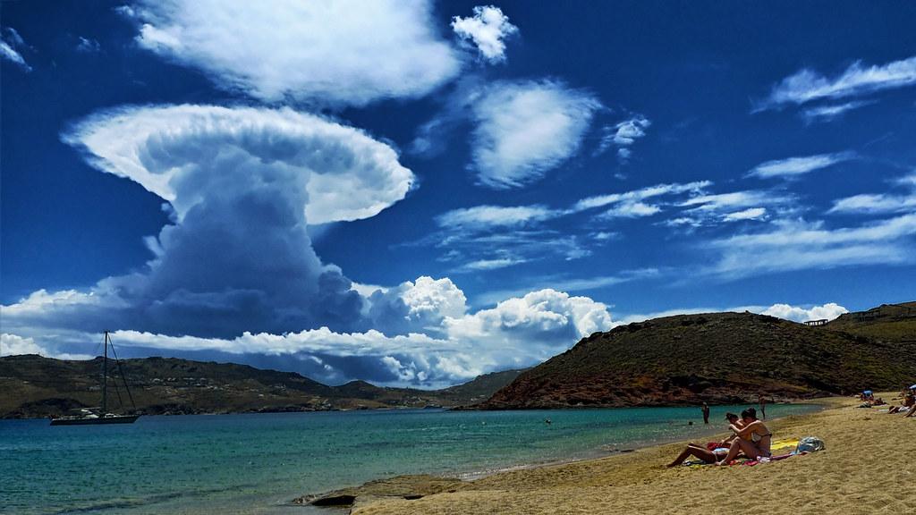 cumulonimbus over mykonos