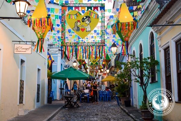Streets in Pelourinho Salvador Brazil
