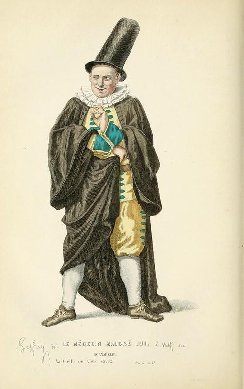 009-Medico a su pesar -Oeuvres completes ornee de portraits en pied colories…1871- Moliere