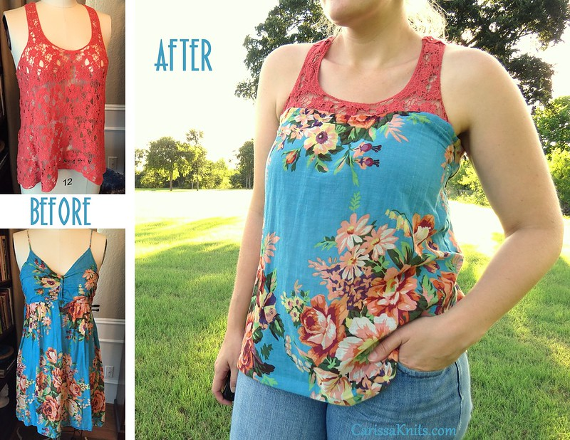 Lace & Flowers Tank Top - Before & After