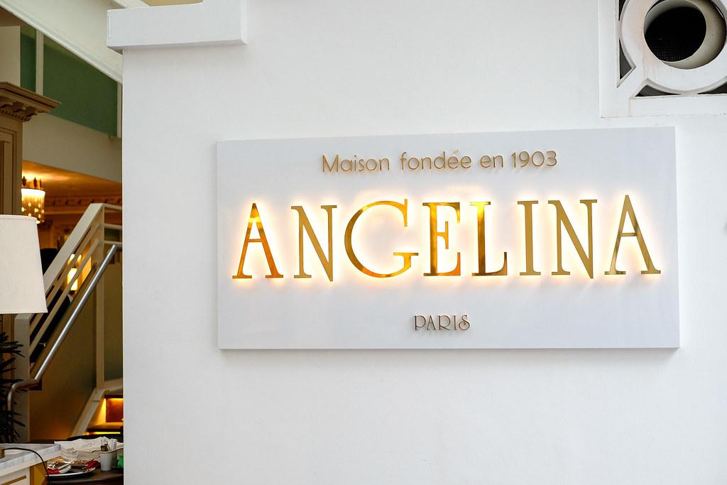 Angelina Tea Room (Singapore) Sign