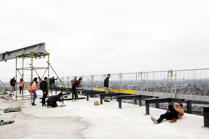 A'DAM Toren Amsterdam Instagrammers on roof