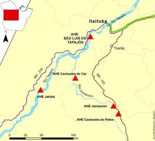 Complexo Tapajos map