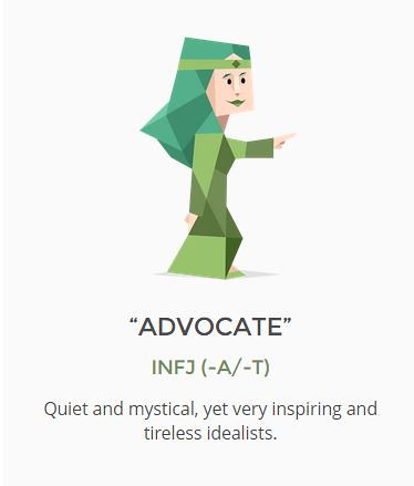 Image result for the advocate personality