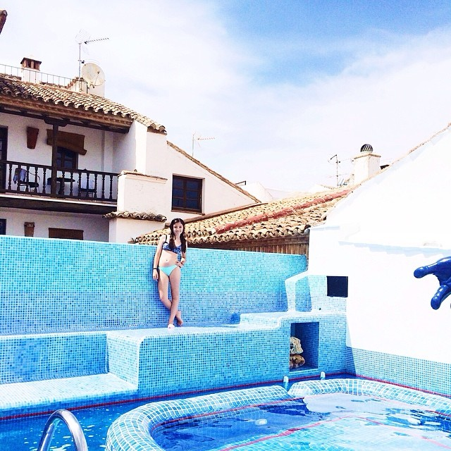 The rooftop pool of Hotel Enfrente Arte in jaw-droppingly beautiful Ronda